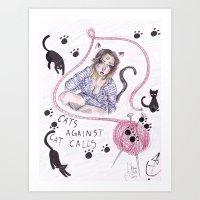 Cats Against CatCalls Art Print