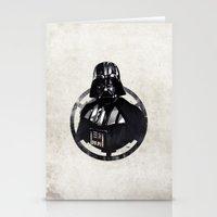darth vader Stationery Cards featuring Darth Vader by Yvan Quinet