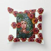 chakra Throw Pillows featuring Chakra Sadhna by Harsh Malik
