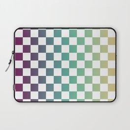 Multicolor Gradient Checker Laptop Sleeve