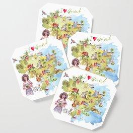 Brasil Map Coaster
