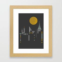 City scape Framed Art Print