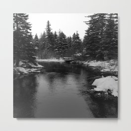 Up The Black Stream Metal Print