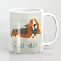 the hound Mugs featuring Basset Hound by 52 Dogs