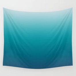Pastel deep blue navy gray duotone sea ocean water gradient ombre summer stylish color pure soft lig Wall Tapestry