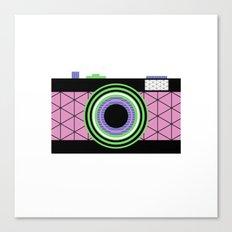 Snap That Retro Camera And Take That Geometric Pic Canvas Print