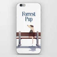 forrest gump iPhone & iPod Skins featuring Forrest Pup by oweeo