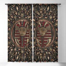 King Tutankhamun mask in circular ornament Blackout Curtain