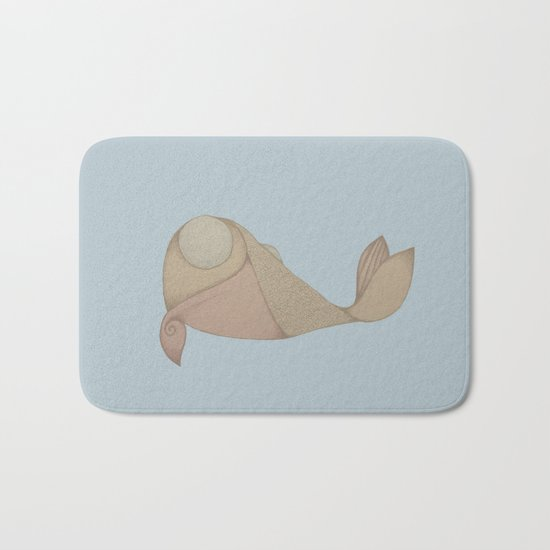 Pyramid Fish Bath Mat