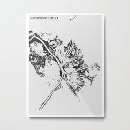 Mississippi Delta Metal Print
