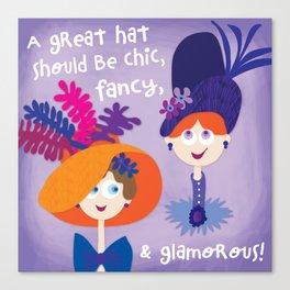 Great Hats Canvas Print