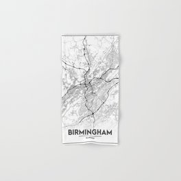 Minimal City Maps - Map Of Birmingham, Alabama, United States Hand & Bath Towel