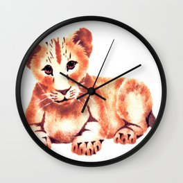 Baby Lion Cub Wall Clock