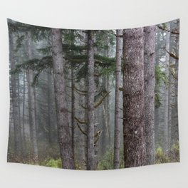 Foggy Forest Wanderlust Adventure II - 115/365 Nature Photography Wall Tapestry