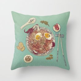 Phở Lady Throw Pillow