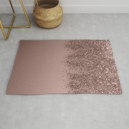 Sparkling Rose Gold Blush Glitter #3 (Photography) #shiny #decor #art #society6 Rug