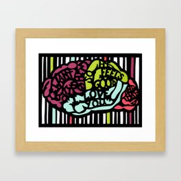 This Is Your Brain In Love Framed Art Print