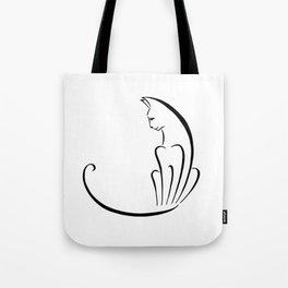 Fan Cat Tote Bag