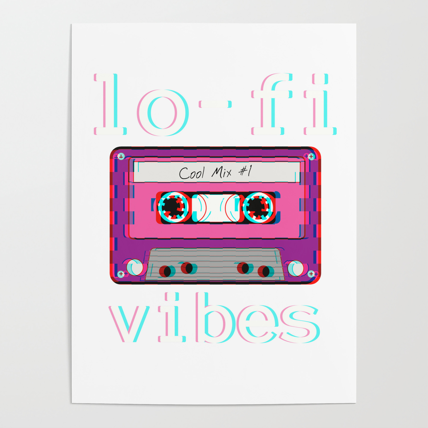 Low Fidelity Music Product Aesthetic Tape Lo Fi Vibes Design Poster By Dc Designstudio Society6