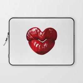 Heart Shaped Lips Laptop Sleeve