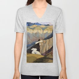 The Destruction of an Austrian Machine in the Gorge of the Brenta Valley, Italy - Sydney William Car Unisex V-Neck