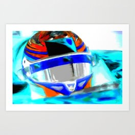 Speedway God Art Print