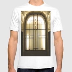 Candle Glass White Mens Fitted Tee MEDIUM
