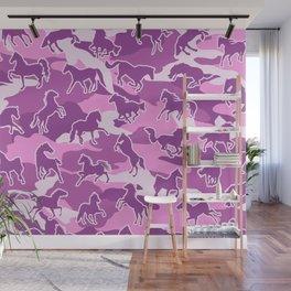 Horse Camo PINK Wall Mural