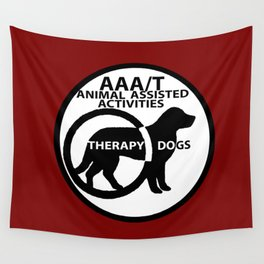 Animal Assisted Activities  - THERAPY DOG logo 15 Wall Tapestry