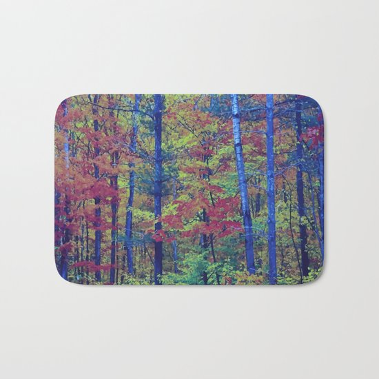 Forest - with exaggerated colors Bath Mat