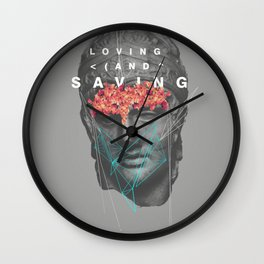 Loving & Saving Wall Clock