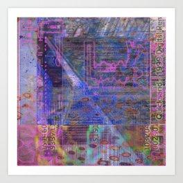 Wayward Sunday (Quicksand 1999 Digital Rem...) [A Brand New Experiment Series] Art Print