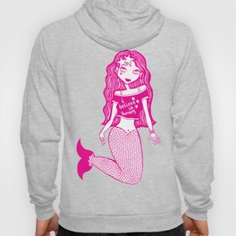I believe in humans mermaid (pink and white) Hoody