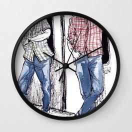 Urban Lumberjacks by Kat Mills Wall Clock