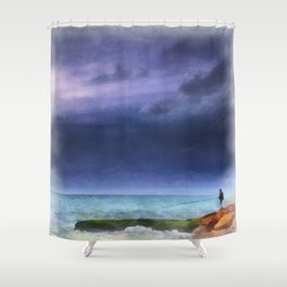 Gone Fishin' Shower Curtain