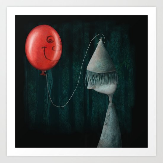 The Boy and the Balloon Art Print