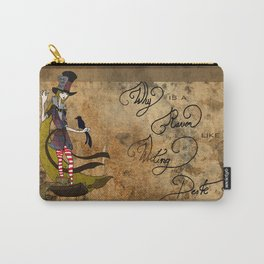 Mad Alice: Why is a Raven like a Writing Desk? Carry-All Pouch