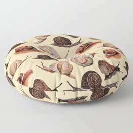 A Slew Of Snails Floor Pillow