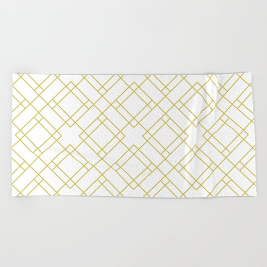 Simply Mod Diamond in Mod Yellow Beach Towel
