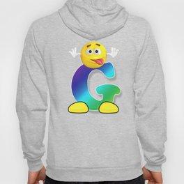 Letter G Alphabet Smiley Monogram Face Emoji Shirt for Men Women Kids Hoody