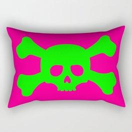 Toxic Skull Rectangular Pillow