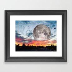 Supermoon Sunset Florida Framed Art Print
