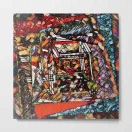Mandala Trompe L'Oeil Metal Print