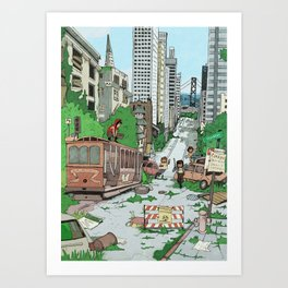 Post Apocalyptic San Francisco Art Print