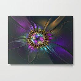 Fantasy Flower Fractal Metal Print