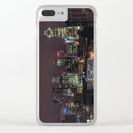 Montreal Skyline at Night Clear iPhone Case