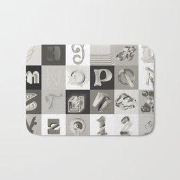 36 days of type 2018 (black & white ver.) Bath Mat