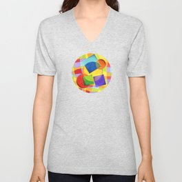 Candy Rainbow Circus Plaid Unisex V-Neck