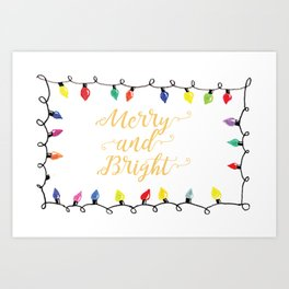 Merry and Bright Lights Art Print