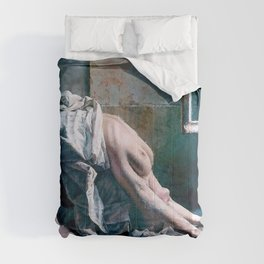 The Devastation, female nude portrait painting Comforters